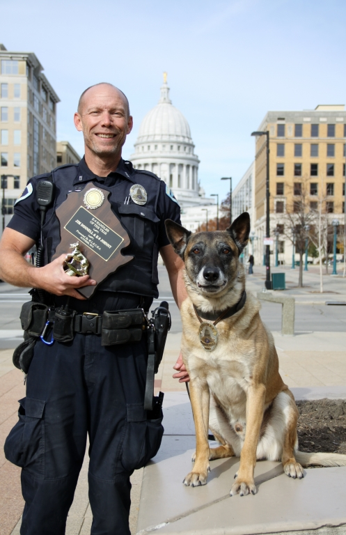 Police Officer Jim Donnell and K9 Johnny - Award