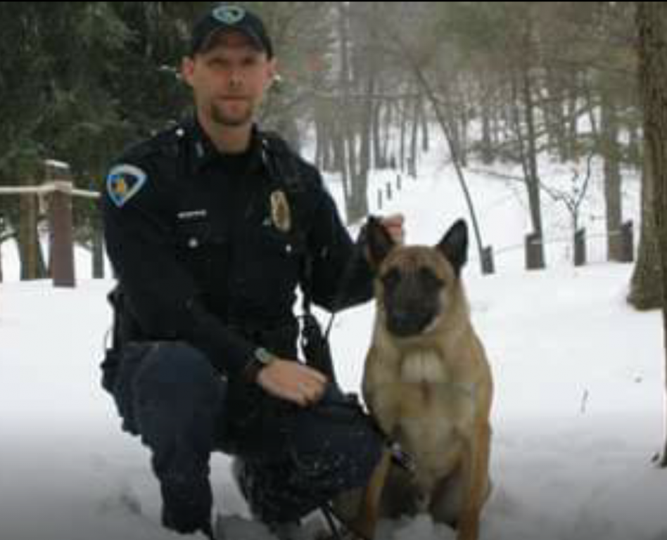 Police Officer Jim Donnell and K9 Johnny - 2006