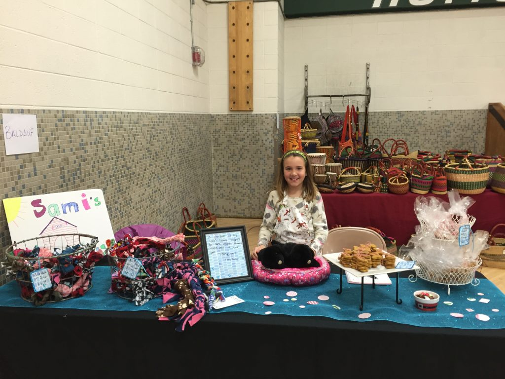 Samantha at a craft fair