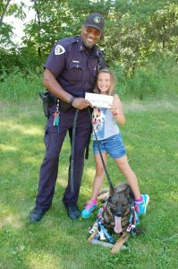 Officer Wilson, Samantha, and K9 Boris