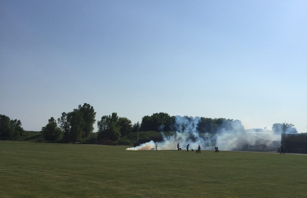 K9 in smoke training