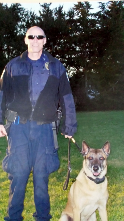 Police Officer Jim Donnell and K9 Johnny